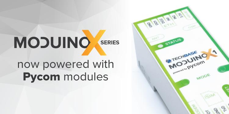 Moduino ESP32 controller now powered with Pycom modules